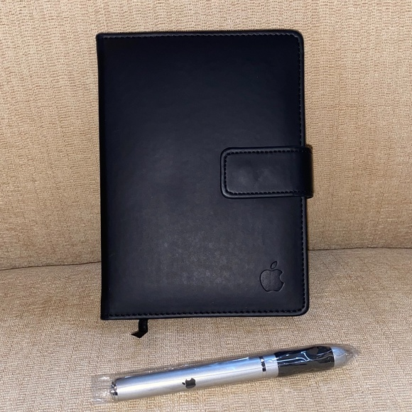 Flap Apple Logo Notebook and Twist Pen